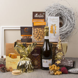 The Mistletoe Christmas Hamper With Prosecco - hampers