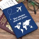 Personalised Passport Holder World Map Design
