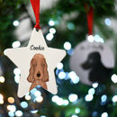 Cocker Spaniel Christmas Dog Decoration Personalised