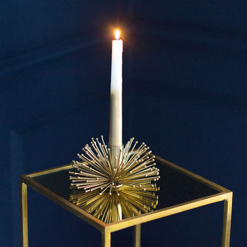 Gold Porcupine Candle Holder
