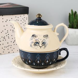 'Meow' Tea For One - tableware