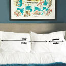 My side / Your side Twisted Twee pillowcases