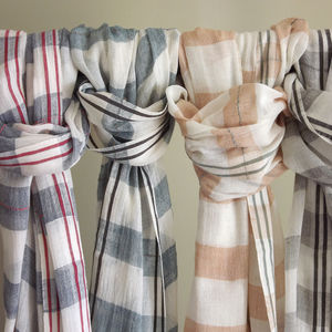 Handwoven Ethiopian Loose Weave Cotton Scarf - scarves