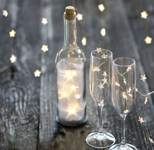 Bottle Light Filled With Star LED Lights - fairy lights & string lights