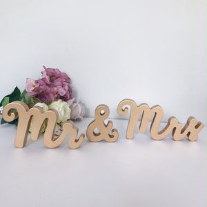 Mr And Mrs Gold Standing Letters - children's room