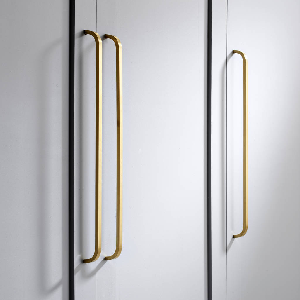 Solid Brass Gold Door And Drawer Bar Handles By Pushka