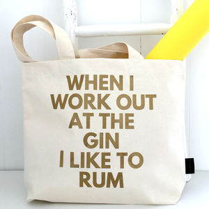 'Gin And Rum' Gym Bag - winter sale
