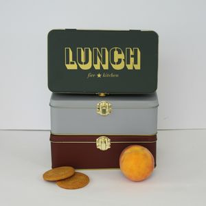 Retro Style Tin Lunch Box