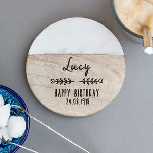Personalised 'Happy Birthday' Coaster