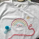 Diy Embroidery Rainbow Unisex Childrens Sweatshirt
