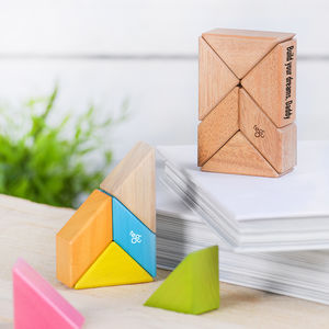 Personalised Magnetic Wooden Block Set