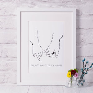 'You Will Forever Be My Always' Wedding Print