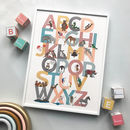 A To Z Of Emotions Inspiring Alphabet Block Print