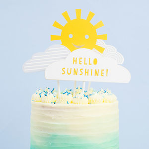 Hello Sunshine Baby Shower Cake Topper