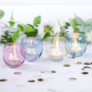 Four Personalised L.S.A. Votive Holders