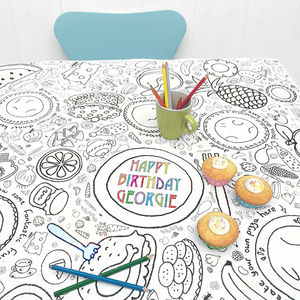 Colour In Tablecloth Party Time *Personalise It - toys & games sale