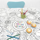 Colour In Tablecloth Party Time *Personalise It
