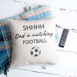 Personalised Football Fan Cushion Cover