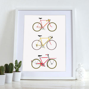 Bike Art Print, Bicycle Poster Wall Art Home Décor