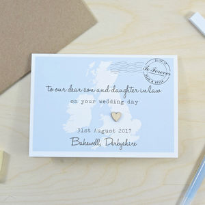 To Son And Daughter In Law Wedding Day Card - wedding cards