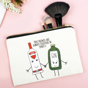'Together In Spirits' Friendship Make Up Bag - our favourite gin gifts
