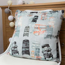 Linen London Bus Cushion