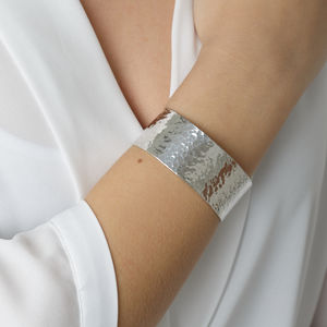 Sterling Silver Statement Cuff Bangle