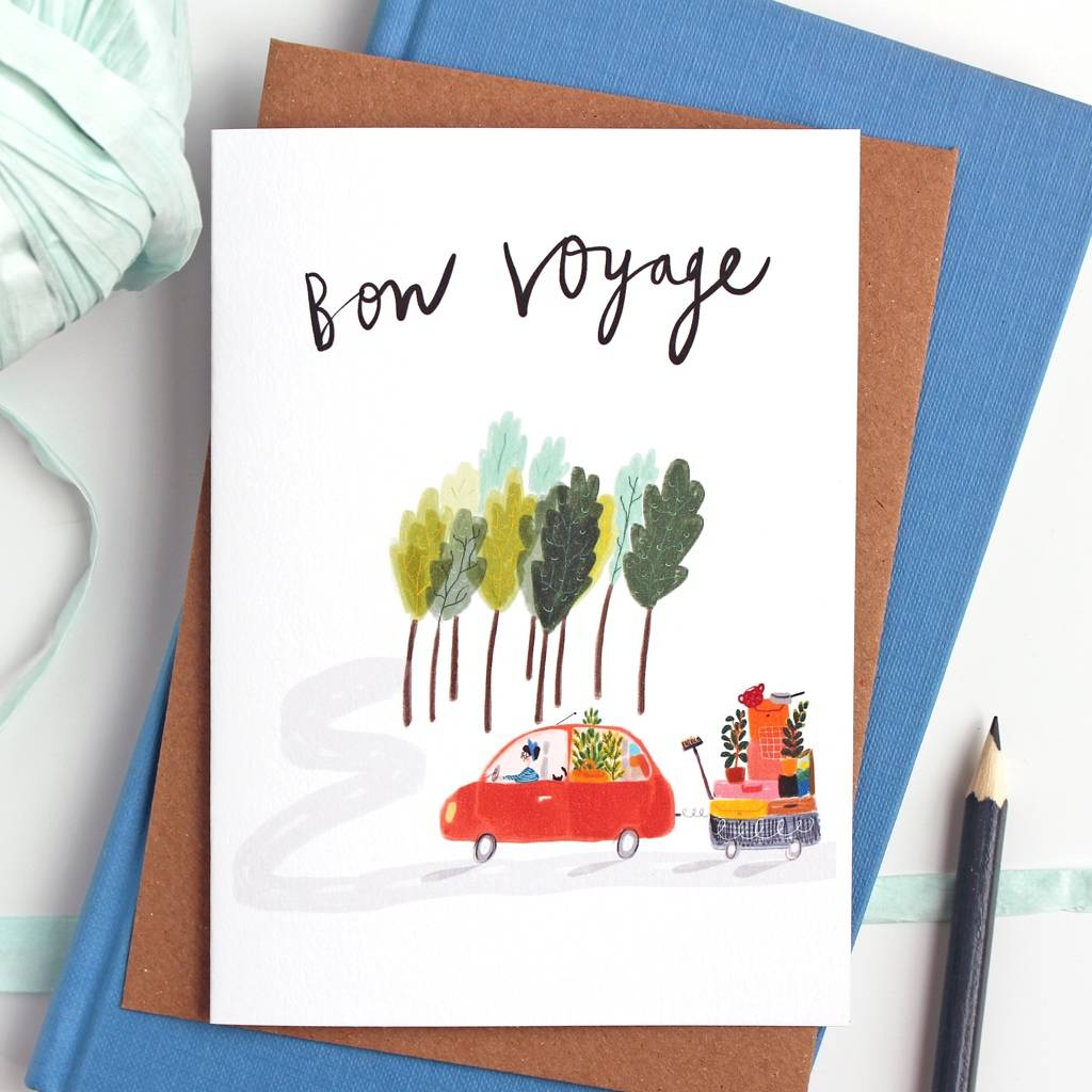 bon voyage card by katy pillinger designs. Black Bedroom Furniture Sets. Home Design Ideas