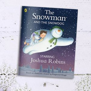 Personalised 'The Snowman And The Snowdog' Book - books