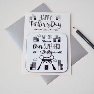 Personalised Father's Day Card And Coaster - placemats & coasters