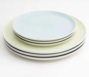 Tactile Coloured Porcelain Plate - tableware