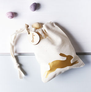 Personalised Easter Bunny Treat Bag - children's easter