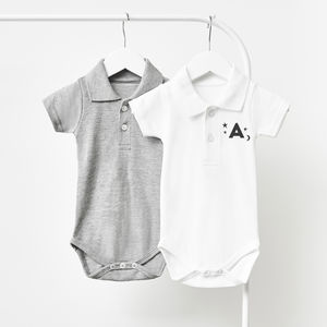 Little Stars Personalised Polo Babygrow - clothing