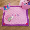 Children's Pink Fairy And Heart Floor And Play Mat