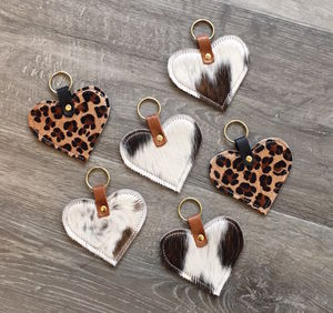 Leather Heart Keyring - whats new