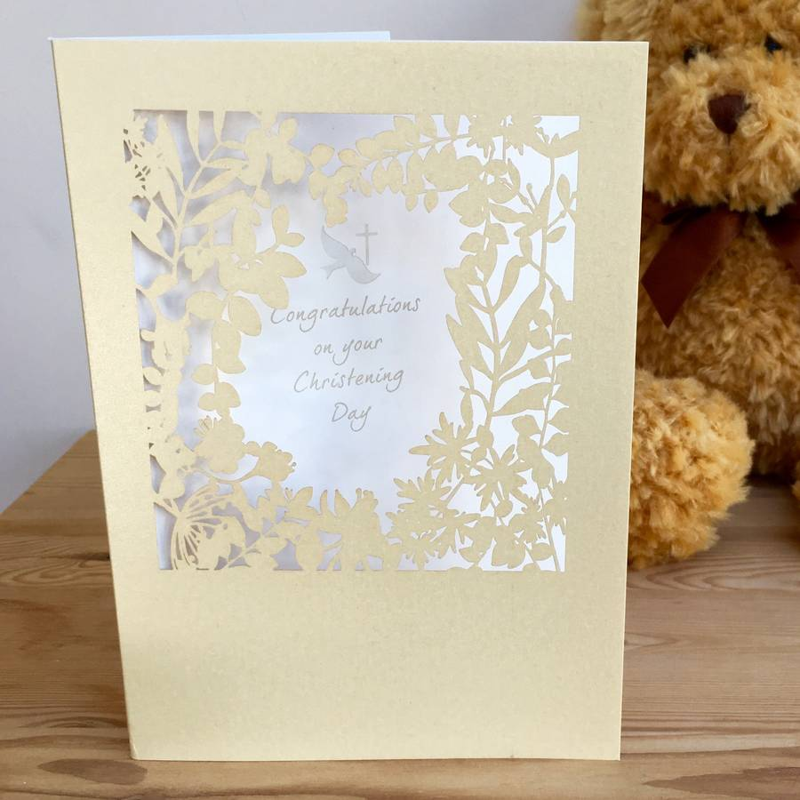Christening Delicate Cut Card