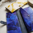 Leather Tie Dye Bi Fold Purse