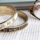 Anniversary Bangle Personalised With Your Date In Gold