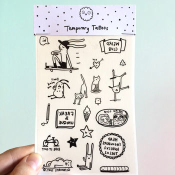 'Fun Illustrated Temporary Tattoos'