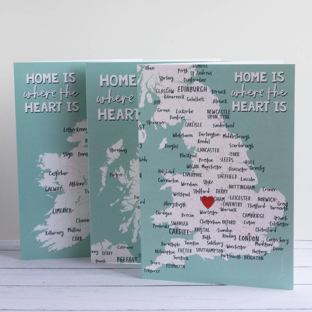 Home Is Where The Heart Is Greetings Card By Paperpaper