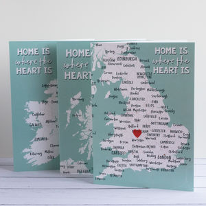 'Home Is Where The Heart Is' Greetings Card - shop by category