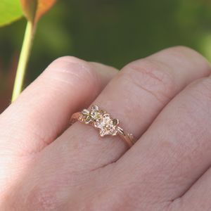 Rose Gold Wildflower Ring