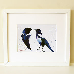 Bird Magpie Print, Joy