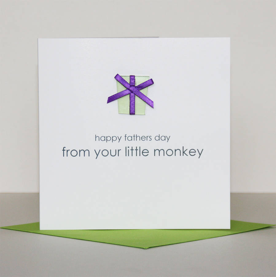 Happy Father's Day 'Present' Greeting Card