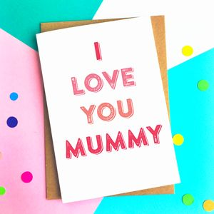 I Love You Mummy Personalised Greetings Card - winter sale
