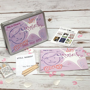 Personalised Pageboy Wedding Activity Pack - wedding favours