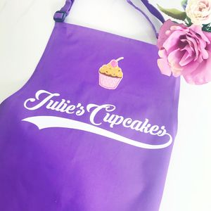 Apron Adult Personalised Cupcake Apron - aprons