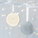 Personalised Mr And Mrs Metal Disc Wreath Decoration