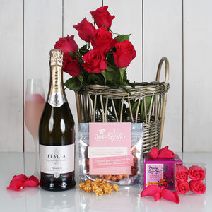 The Ridiculously Romantic Valentine's Day Gift Hamper - champagne & prosecco