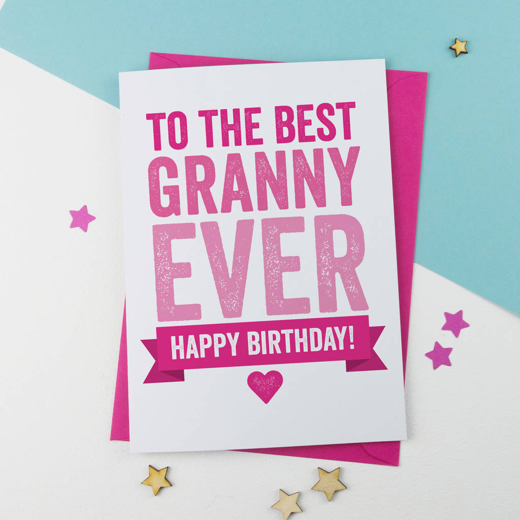 Birthday Card For Granny Nanny Or Nanna